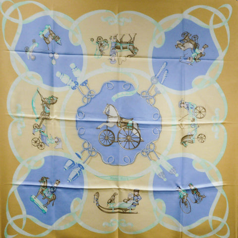 Les Jouets Mobile HERMES Silk Scarf RARE