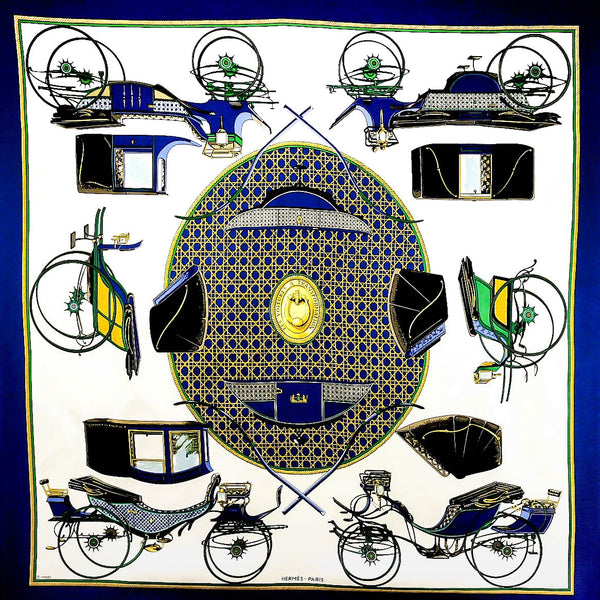 Les Voitures a Transformation HERMES Silk Scarf by CdP