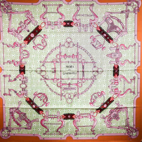 Mors et Gourmettes Remix Hermes Silk Scarf from 2013/2014