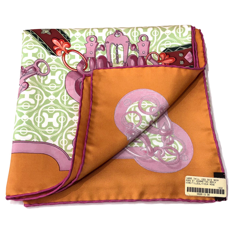 Mors et Gourmettes Remix Hermes Silk Scarf NIB with store and care tag