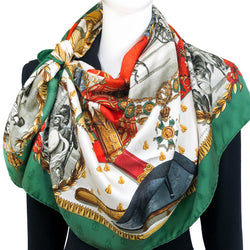 RESERVED Napoleon Hermes Scarf by Ledoux 90 cm Silk Bee Jacquard