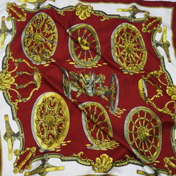 Roues de Canon HERMES scarf in maroon colorway