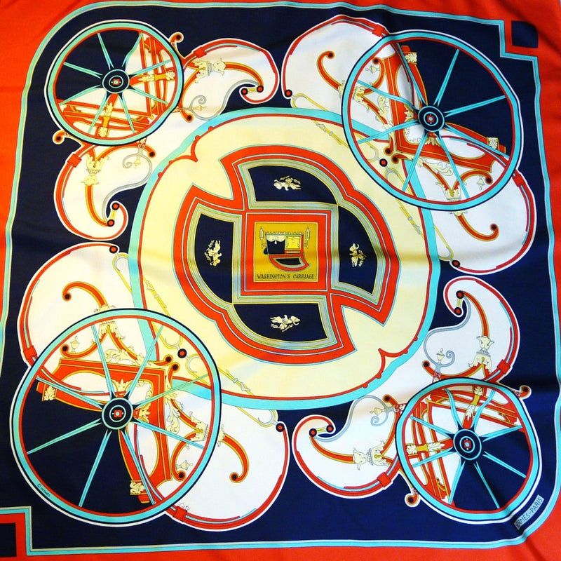 Washington's Carriage HERMES Silk Scarf