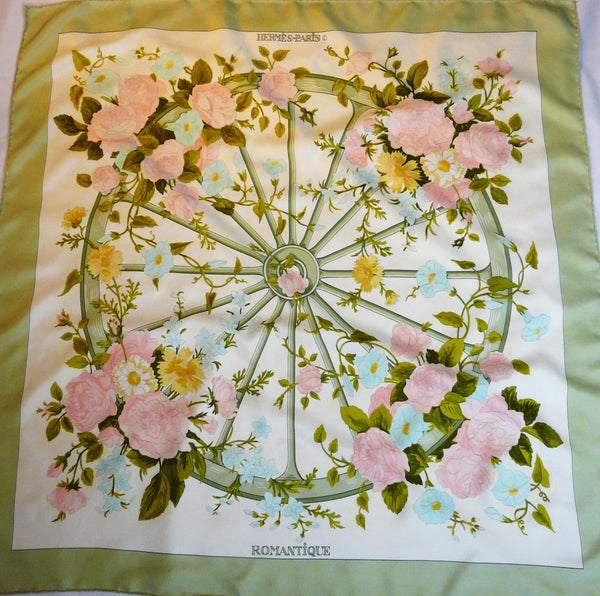 Authentic Vintage Hermes Silk Scarf Romantique Rare
