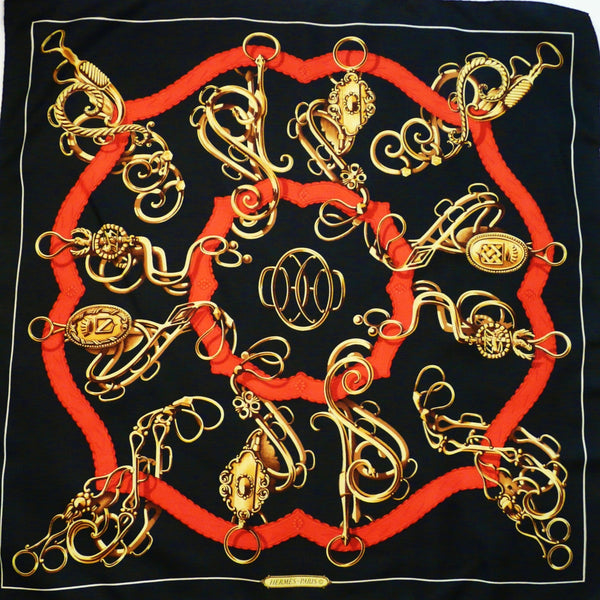 Profile - Selliere HERMES Early Issue 90 cm Silk Scarf