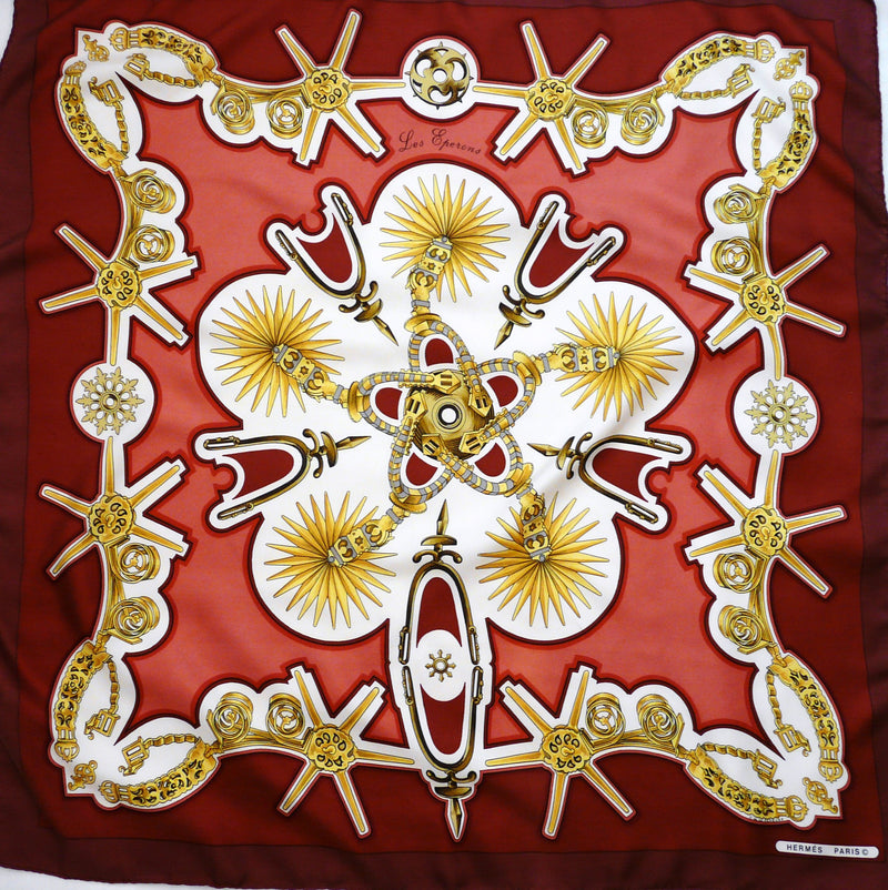 Les Eperons HERMES Silk Scarf