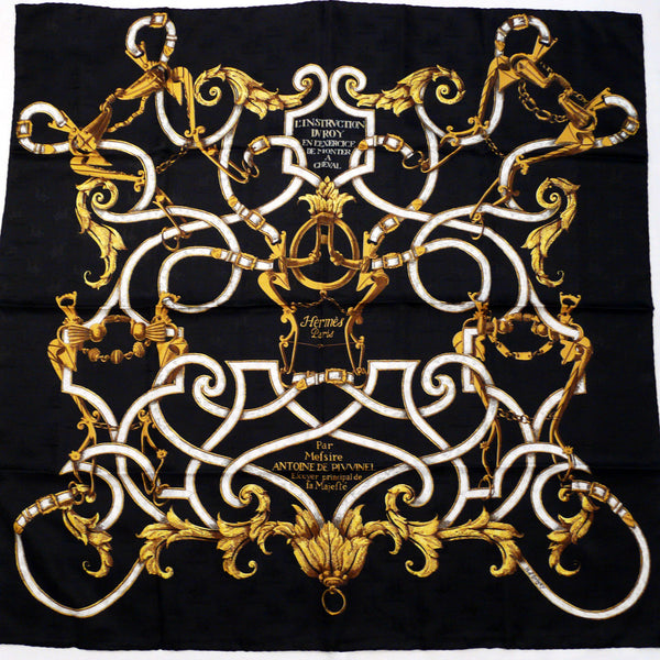 L'Instruction du Roy Hermes Silk Jacquard Scarf NIB