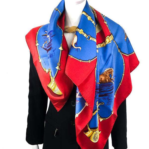 Pampa Hermes Silk Scarf by De Fougerolle 90cm Silk