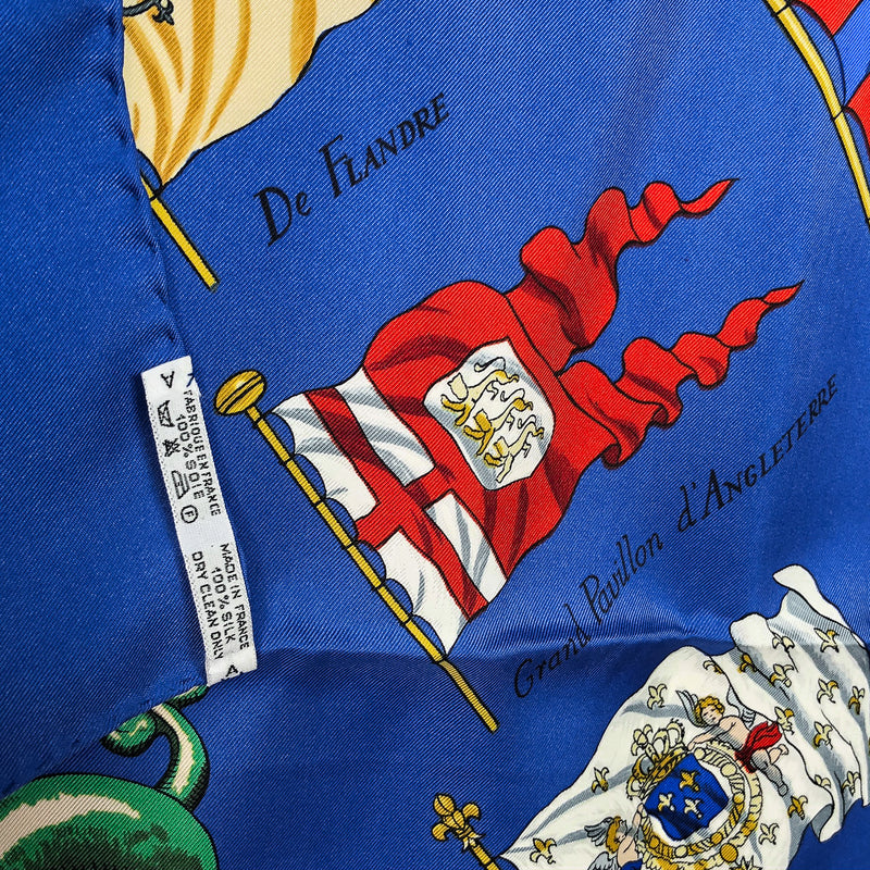 Pavois Hermes Silk Scarf with care tag & copyright