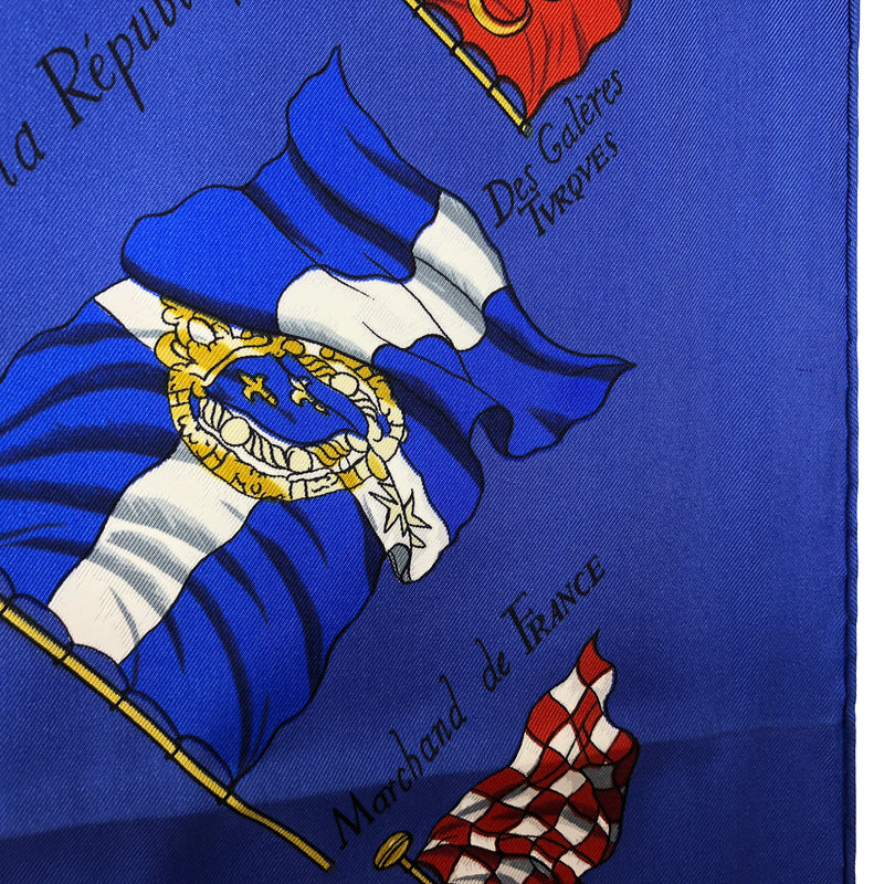 Pavois Hermes Silk Scarf close up of a flag