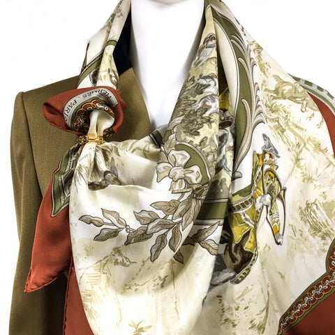 Paridaiza Hermes Silk Scarf Special Issue UNWORN
