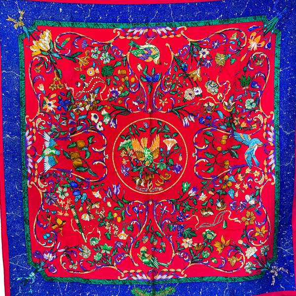 Pierres d'Orient et d'Occident Hermes Silk Scarf from 1988