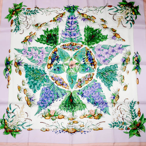 Authentic Hermes Silk Scarf Pythagore Zoe Pauwels Pastels NIB
