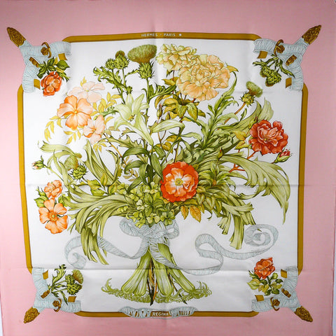 Regina HERMES Silk Scarf Early Issue w/BOX