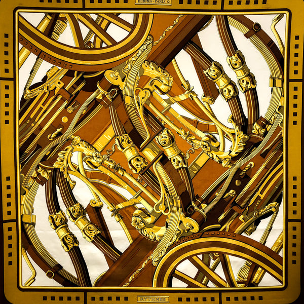 Rythmes Hermes Silk Scarf was designed by Caty Latham