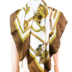 "Musee Schlumpf ""Prestige"" Hermes Scarf by Philippe Ledoux 90 cm Silk Twill - LIMITED RARE Edition"