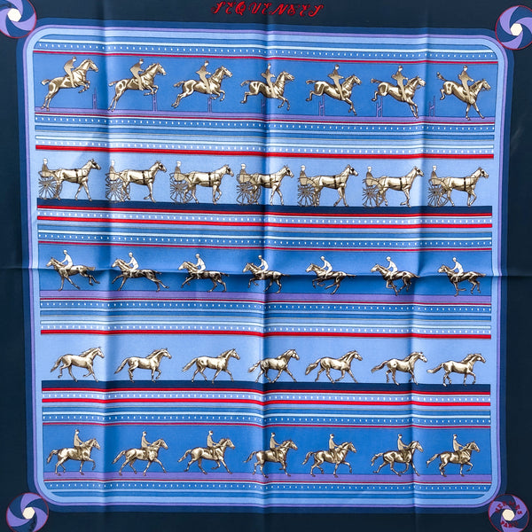 Sequences Hermes Pocket Square by Caty Latham Silk 42 cm