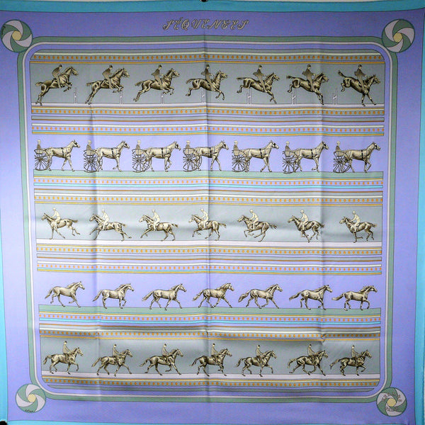 Sequences HERMES Silk Carre Caty Latham Lavender