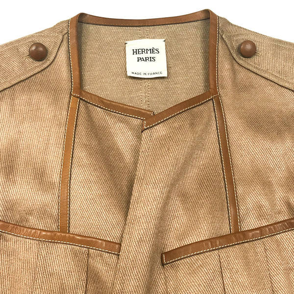 Hermes Linen/Hemp Jacket with hermes tag