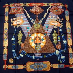 Tibet HERMES Silk Scarf by Caty Latham 1999