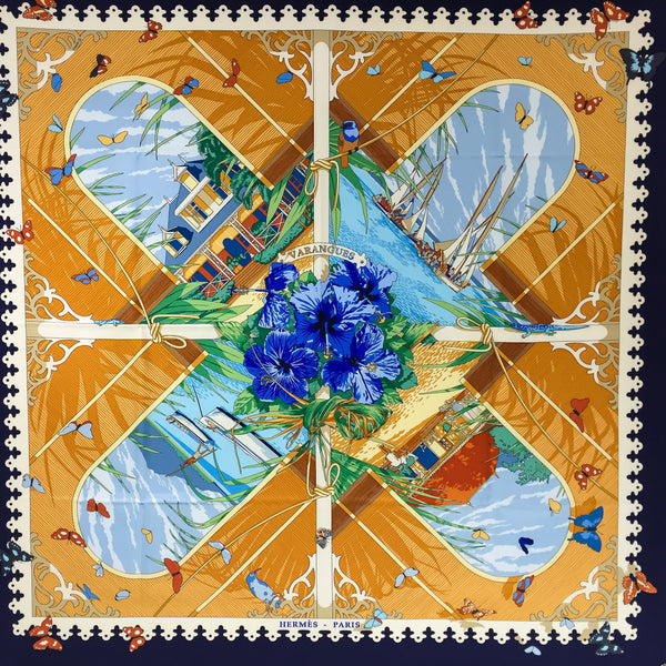 Varangues Hermes Silk Scarf By Dimitri Rybaltchenko from 2001