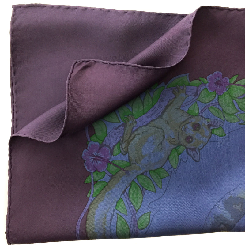 Hermes Silk Scarf Jungle Love Dip Dye