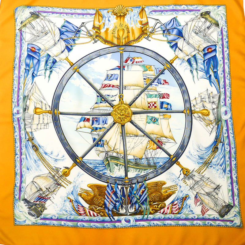 Vive le Vent HERMES Scarf Orange
