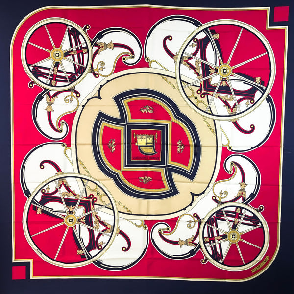 Washington's Carriage Hermes Scarf by Caty Latham 90 cm Silk Twill