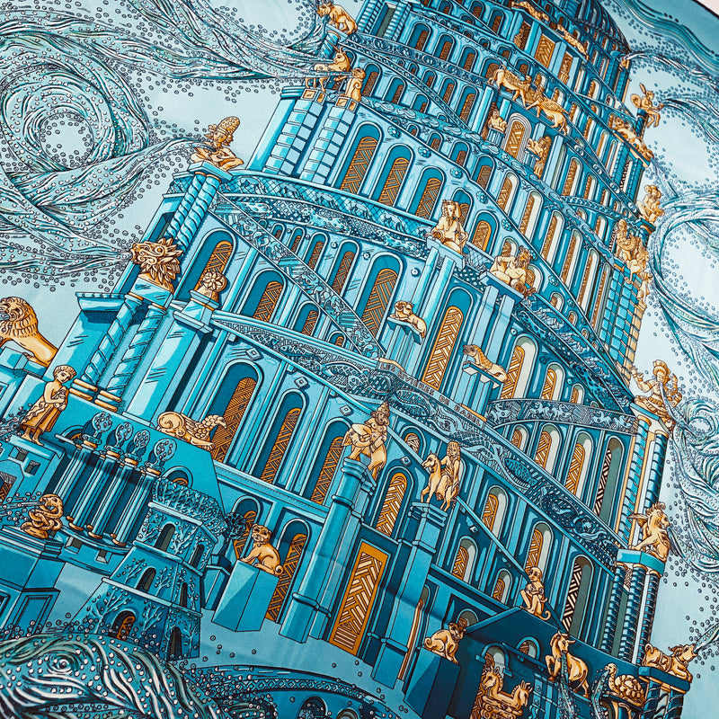 Hermes 2005 Rivieres de Babel by Annie Faivre Twill 90 Scarf