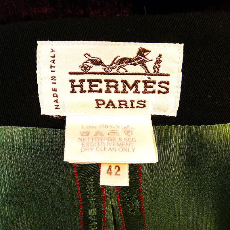 Vintage Hermes Riding Dressage Jacket Blazer Wool Sz. 42 Black
