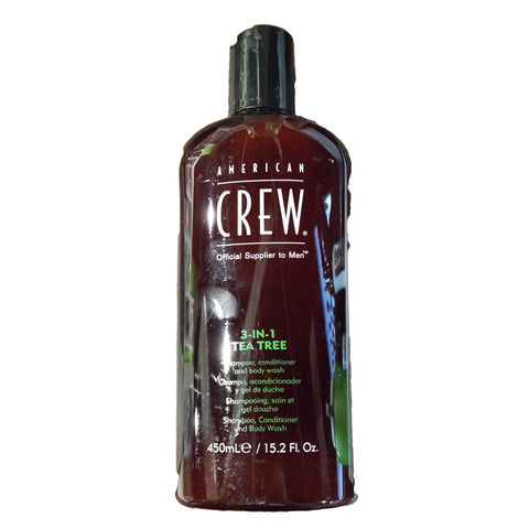 American Crew 3-in-1 Tea Tree Shampoo, Conditioner, and Body Wash by American Crew at Rx SkinCenter