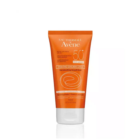 Avene Hydrating Sunscreen Lotion SPF 50+ for Face and Body by Avene | RxSkinCenter Day Spa Overland Park, Kanas