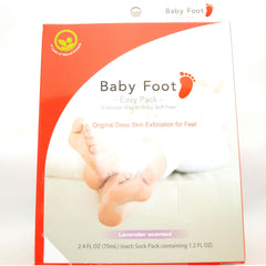 baby foot exfoliant foot peel with glycolic acid