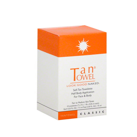 Tan Towel Classic Half Body Self Tanning Towelettes by TanTowel | RxSkinCenter Day Spa Overland Park, Kanas
