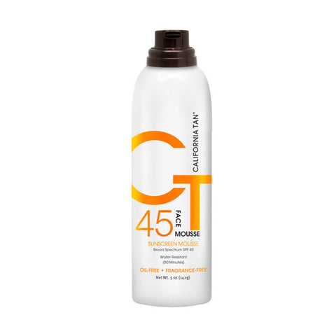 California Tan SPF 45 Sunscreen Face Mousse by California Tan | RxSkinCenter Day Spa Overland Park, Kanas