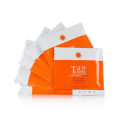 Tan Towel PLUS Self Tan Towelettes by TanTowel | RxSkinCenter Day Spa Overland Park, Kanas