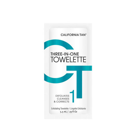 California Tan Three-In-One Towelette Exfoliator by California Tan | RxSkinCenter Day Spa Overland Park, Kanas