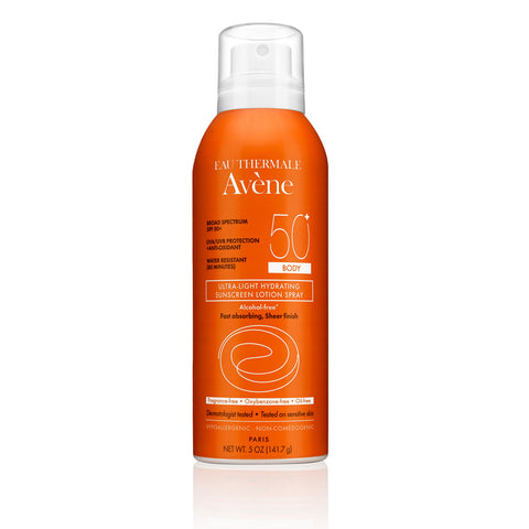 Avene Ultra-Light Hydrating Sunscreen Lotion Spray SPF 50+ Body by Avene | RxSkinCenter Day Spa Overland Park, Kanas