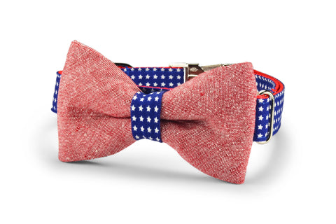 All American Bow Tie Dog Collar
