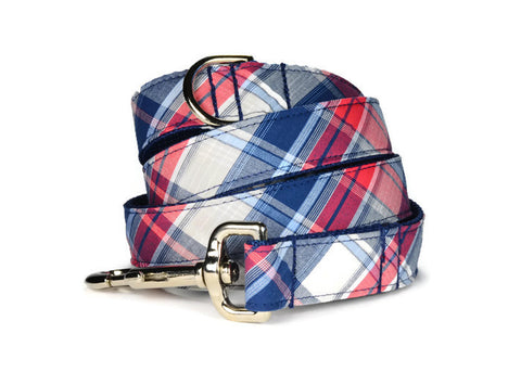 Americana Plaid Dog Leash