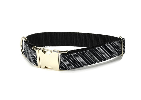Black And Gray Stripe Dog Collar