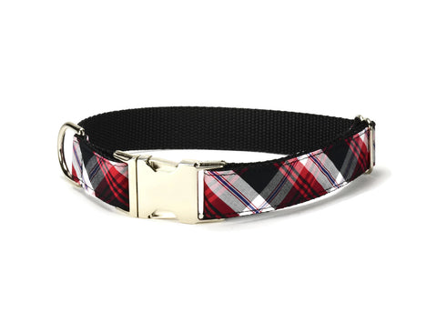 Black And Red Plaid Dog Leash