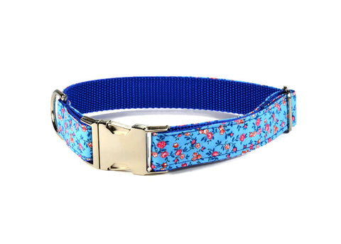 dog collar, floral dog collar, red floral dog collar, red dog collar, preppy dog collar, girl dog collar