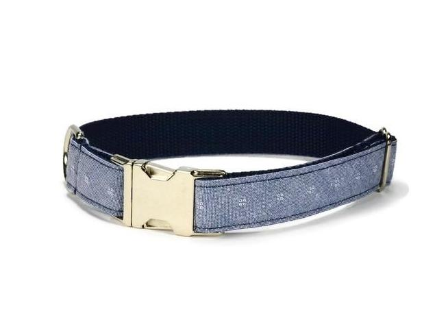 Chambray Diamond Dog Collar