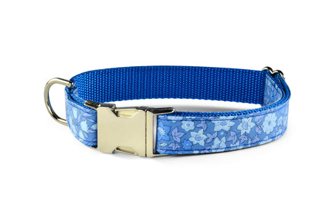 New! Periwinkle Floral Dog Collar