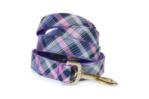 The Madison Bloom Collar and Leash Set w/ Purple Bloom