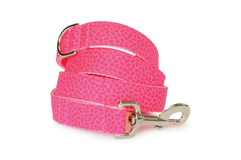 New! Peony Pink Confetti Dog Leash
