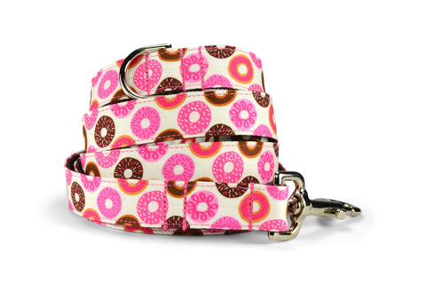 Donut Lover Bloom Collar and Leash Set w/ Carnation Bloom