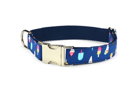 New! Ice Cream Bloom Collar and Leash Set w/ Aqua Bloom