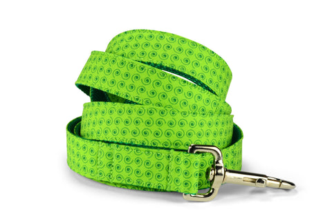 Lime Squiggles Dog Leash